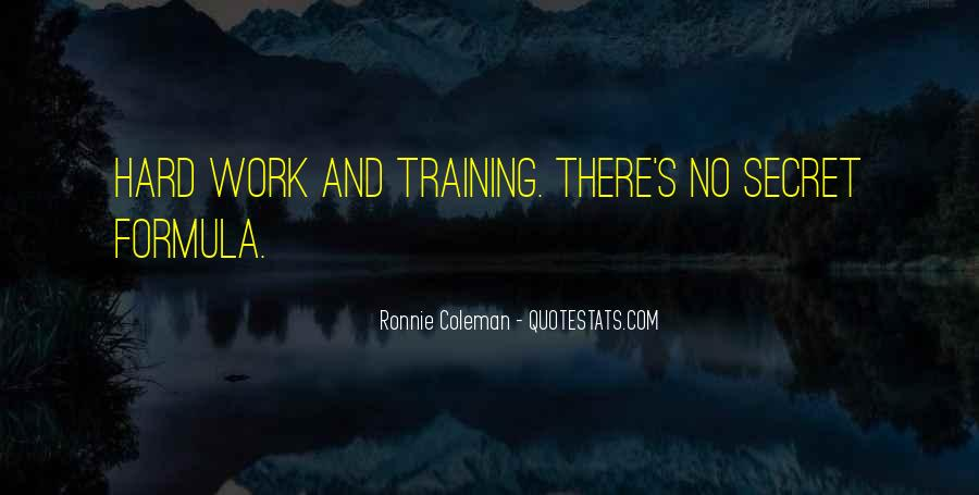 Quotes About Training Hard #1250504