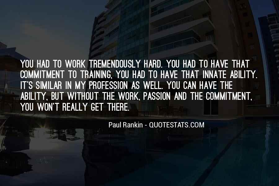 Quotes About Training Hard #1305001