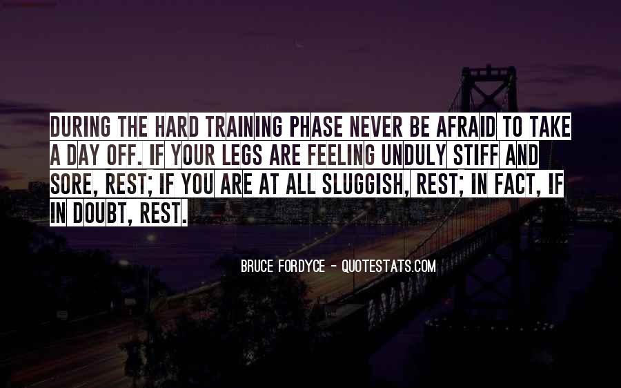 Quotes About Training Hard #1631325