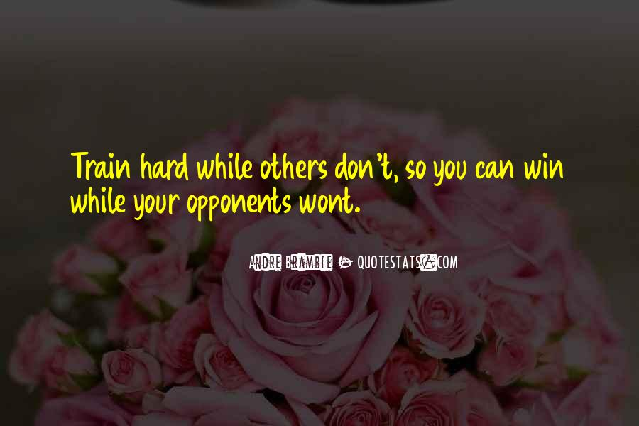 Quotes About Training Hard #1728862