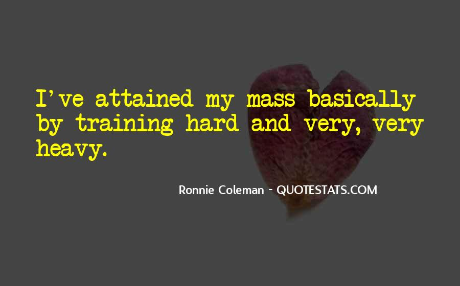 Quotes About Training Hard #1745414