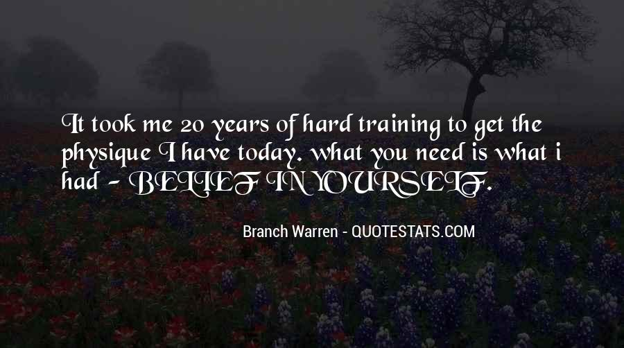 Quotes About Training Hard #1768081