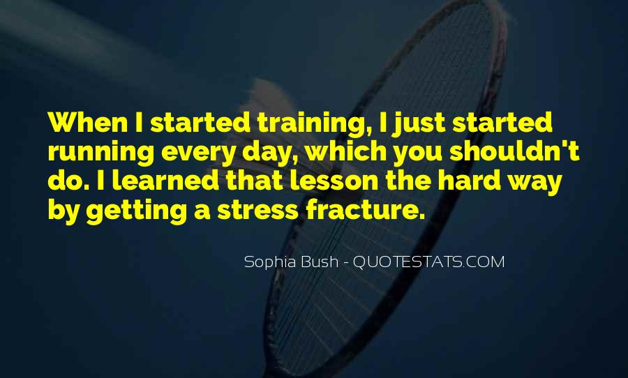 Quotes About Training Hard #185286