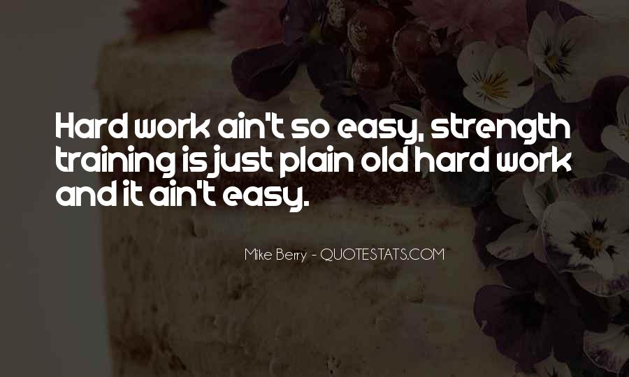 Quotes About Training Hard #8975