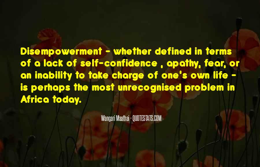 Quotes About Disempowerment #760642