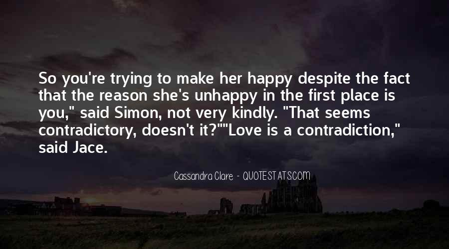 Quotes About Love Unhappy #161721