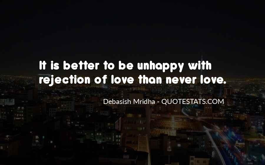 Quotes About Love Unhappy #278251