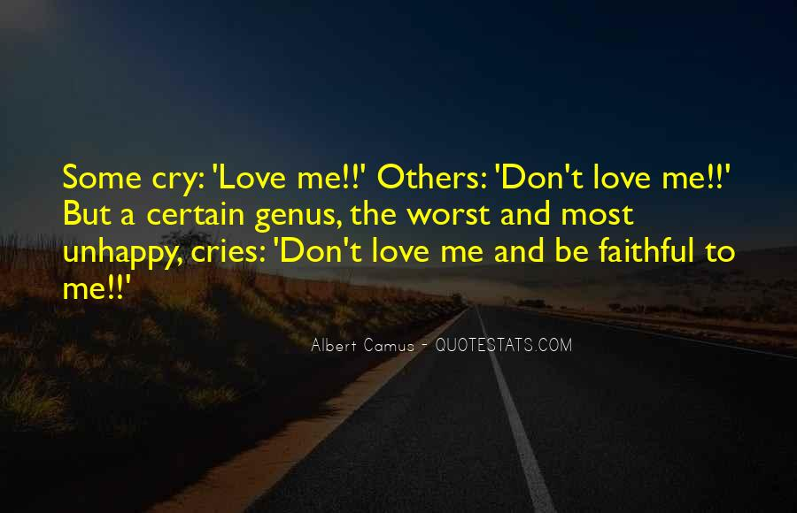 Quotes About Love Unhappy #649988