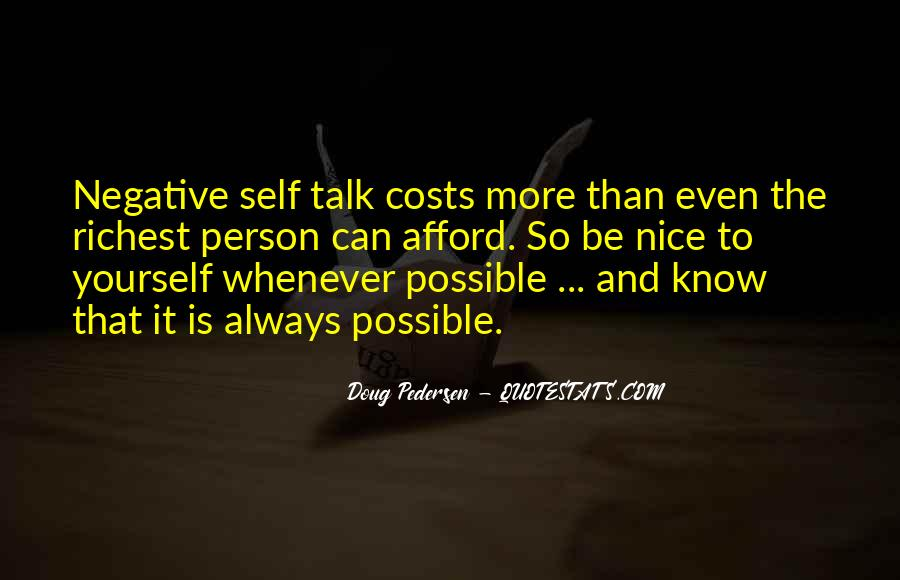 Quotes About Negative Self Talk #111981