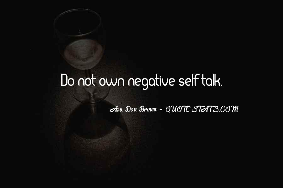 Quotes About Negative Self Talk #283554