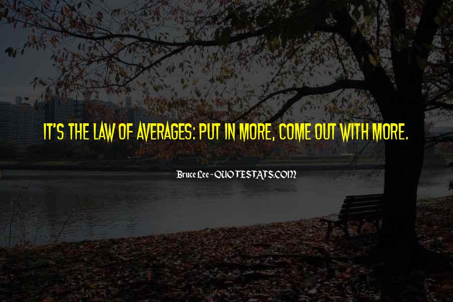 Quotes About Averages #1027522