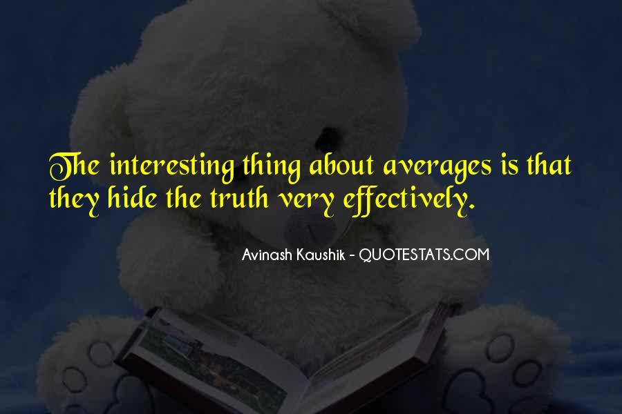 Quotes About Averages #945234