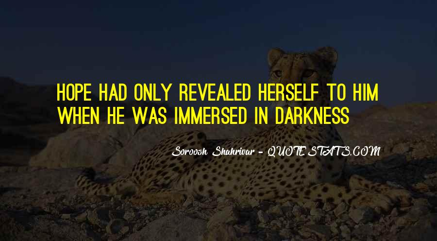 Quotes About Hope In Darkness #109610
