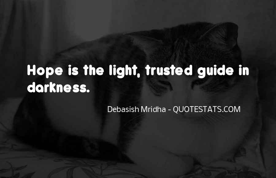 Quotes About Hope In Darkness #130431