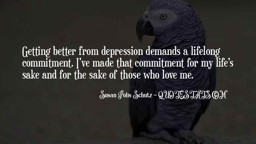 Quotes About Getting Better From Depression #70239