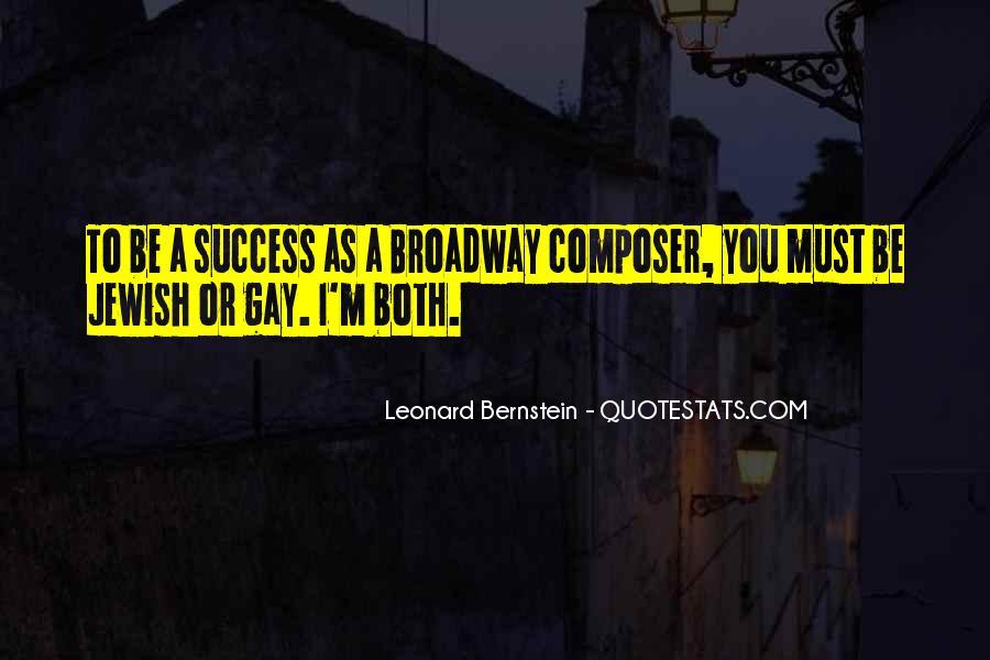 Quotes About Bernstein #187867