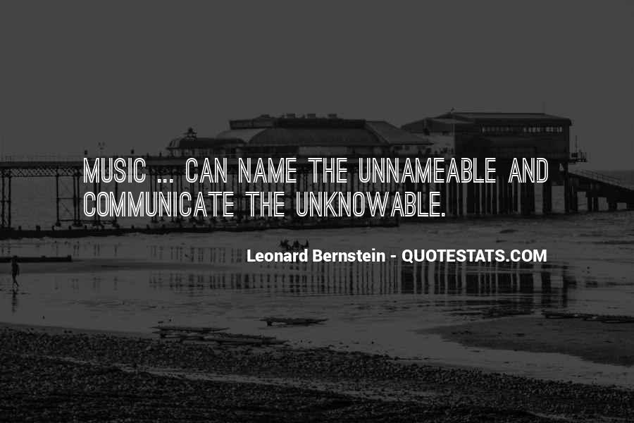 Quotes About Bernstein #426808