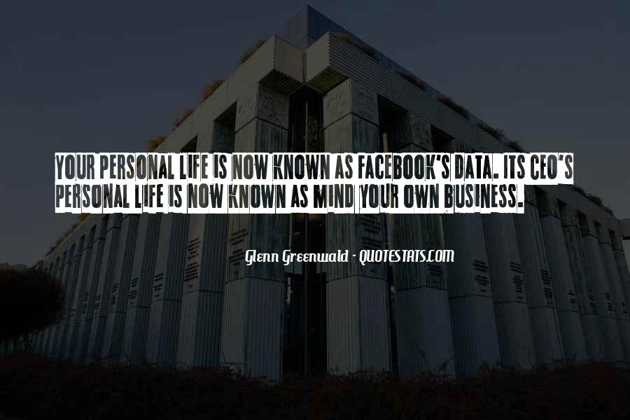 Quotes About Personal Business On Facebook #1157109