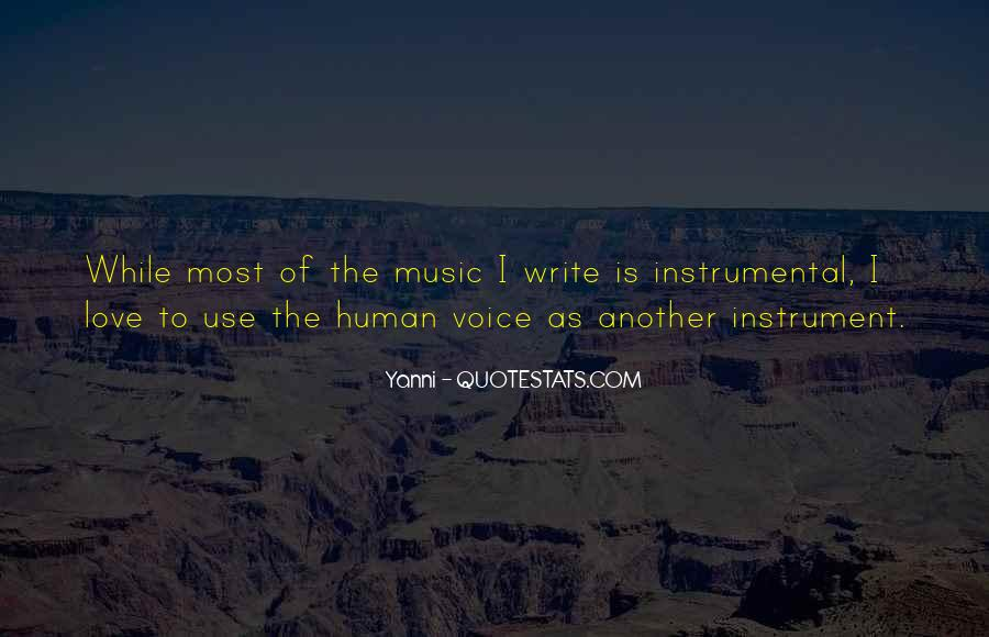Quotes About Instrumental Music #1006247