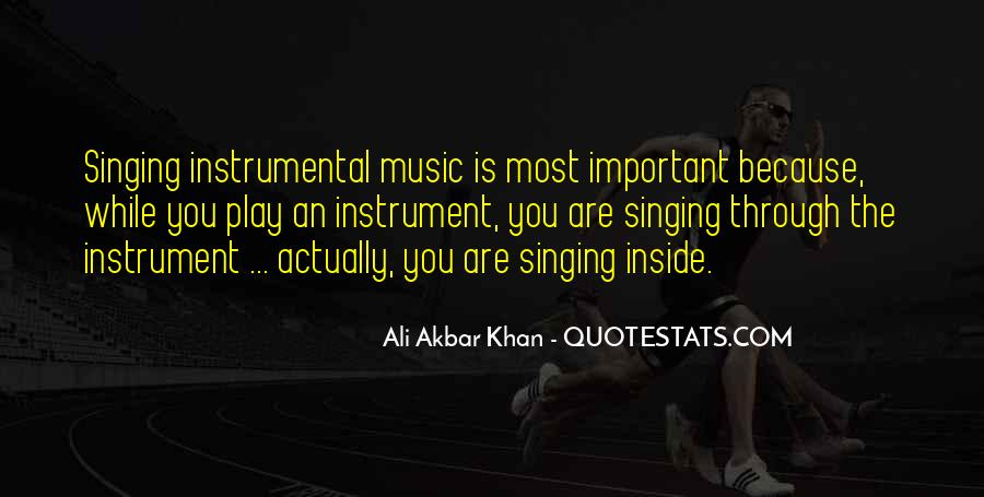 Quotes About Instrumental Music #1035721