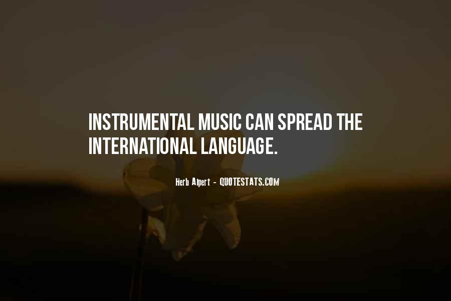 Quotes About Instrumental Music #1198952