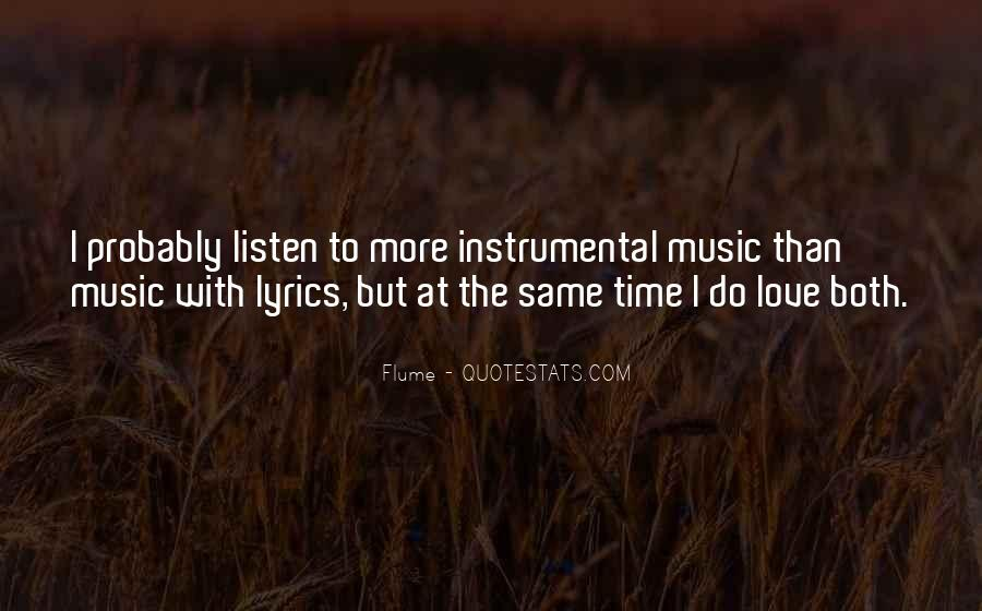 Quotes About Instrumental Music #1294346
