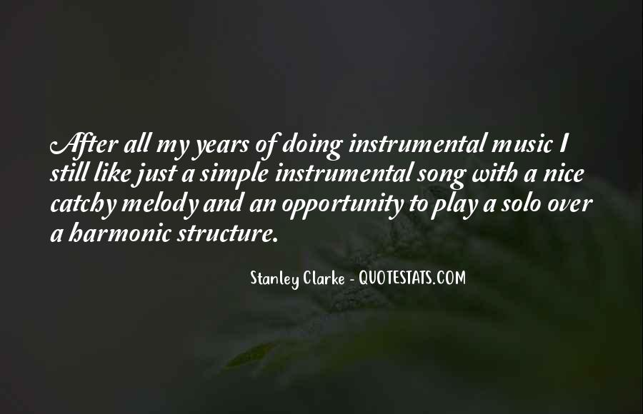 Quotes About Instrumental Music #1588292