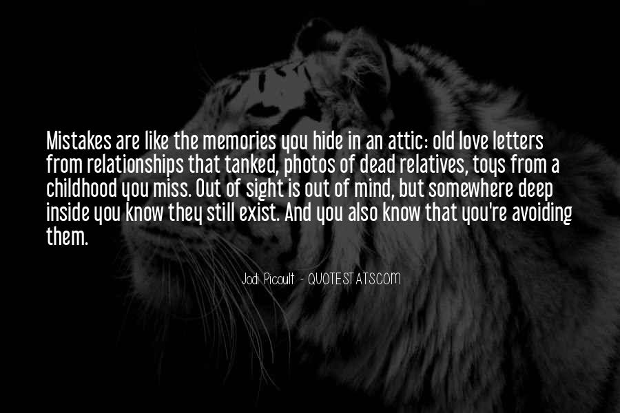 Quotes About Old Memories Of Love #446571