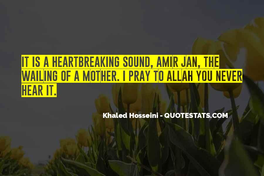 Quotes About Amir's Mother #1240689