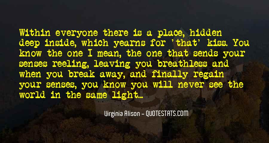 Quotes About Know Your Place #154177