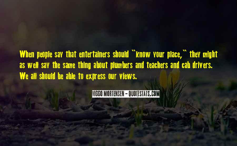 Quotes About Know Your Place #439891