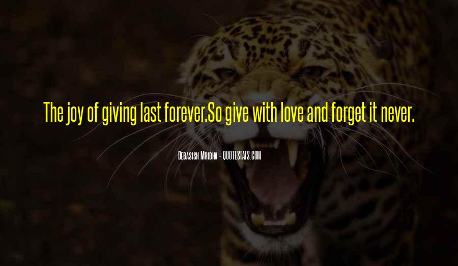 Quotes About Things That Last Forever #111170