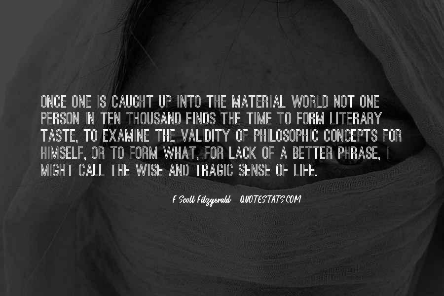 Quotes About Life F Scott Fitzgerald #1428581