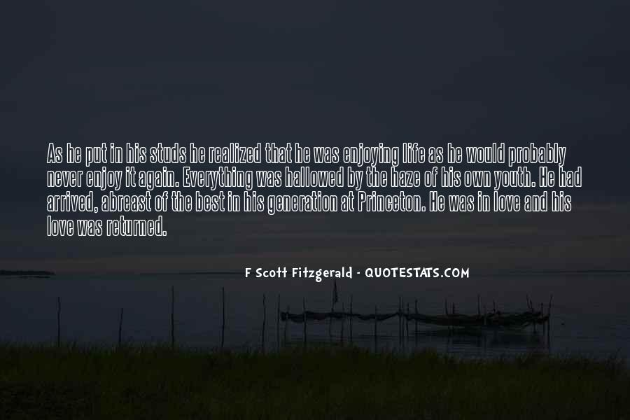 Quotes About Life F Scott Fitzgerald #1443885