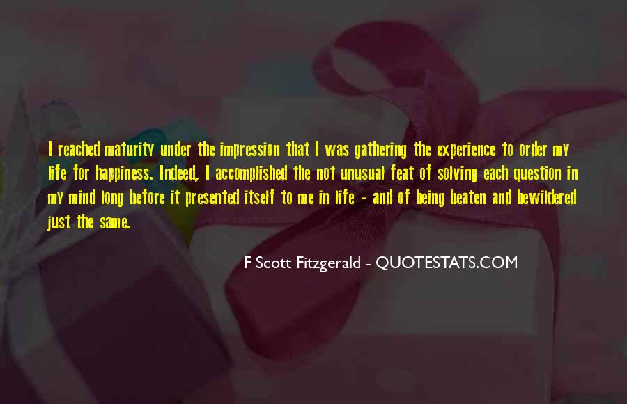 Quotes About Life F Scott Fitzgerald #417262