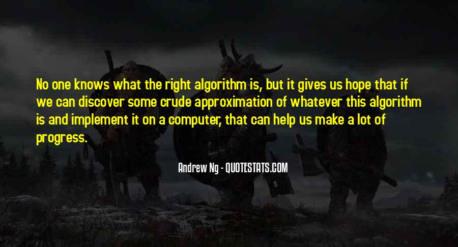 Quotes About Computer Algorithm #1288865