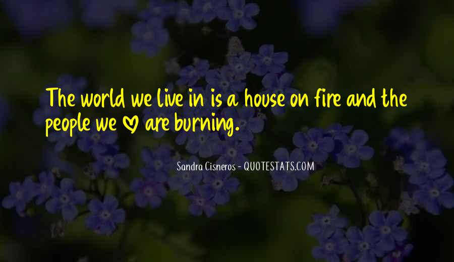Quotes About A House On Fire #448881