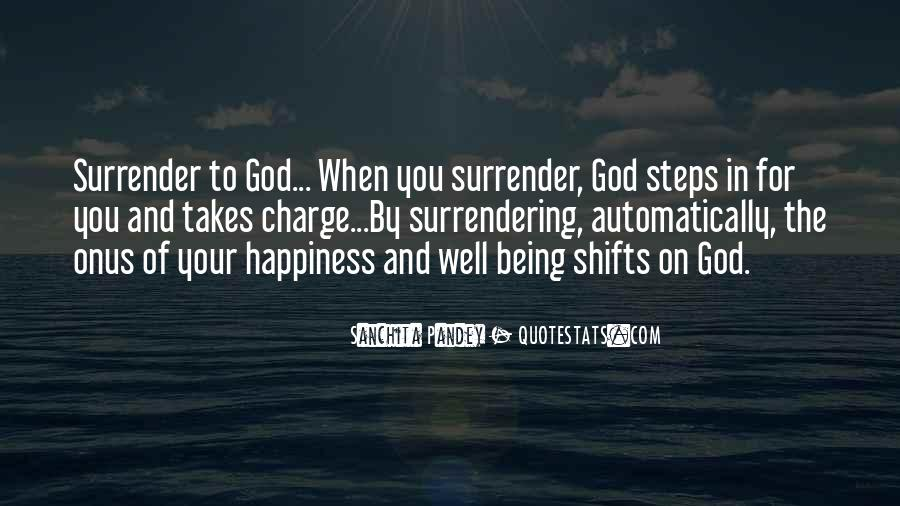 Quotes About Surrendering To God #551322