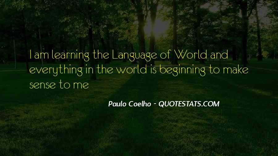 Quotes About Learning A Language #13914