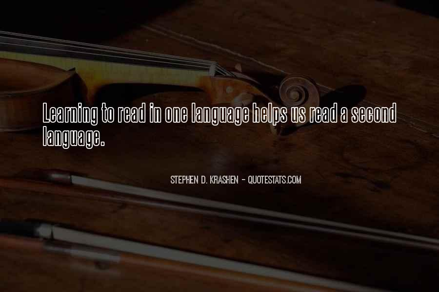 Quotes About Learning A Language #231481