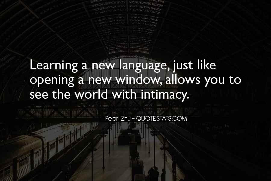 Quotes About Learning A Language #234341