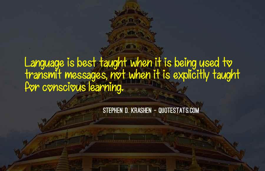 Quotes About Learning A Language #330142