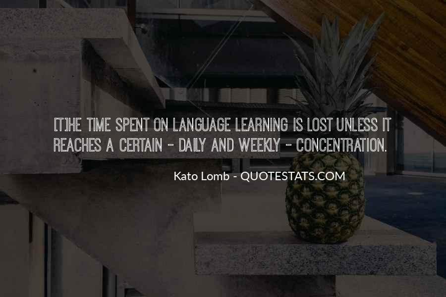 Quotes About Learning A Language #532959
