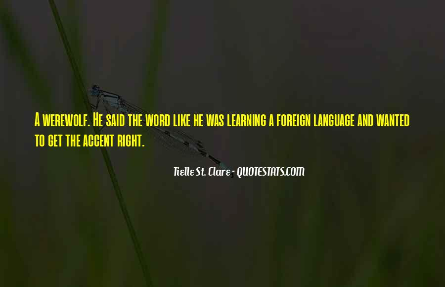 Quotes About Learning A Language #761394