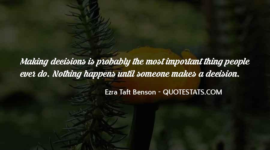 Quotes About Making Decisions #111712