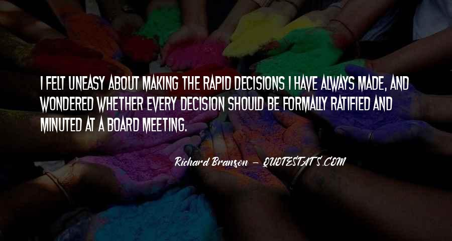 Quotes About Making Decisions #273658