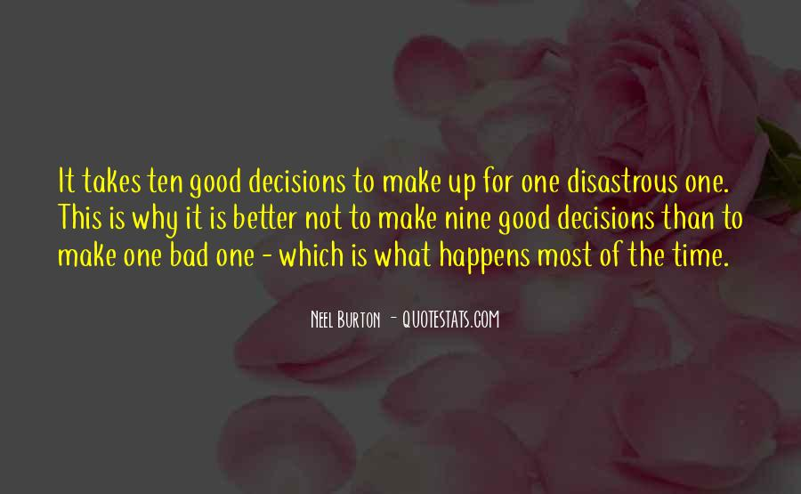 Quotes About Making Decisions #283967