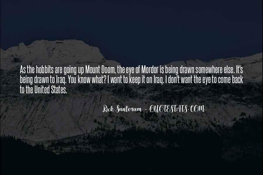 Quotes About Mount Doom #79470