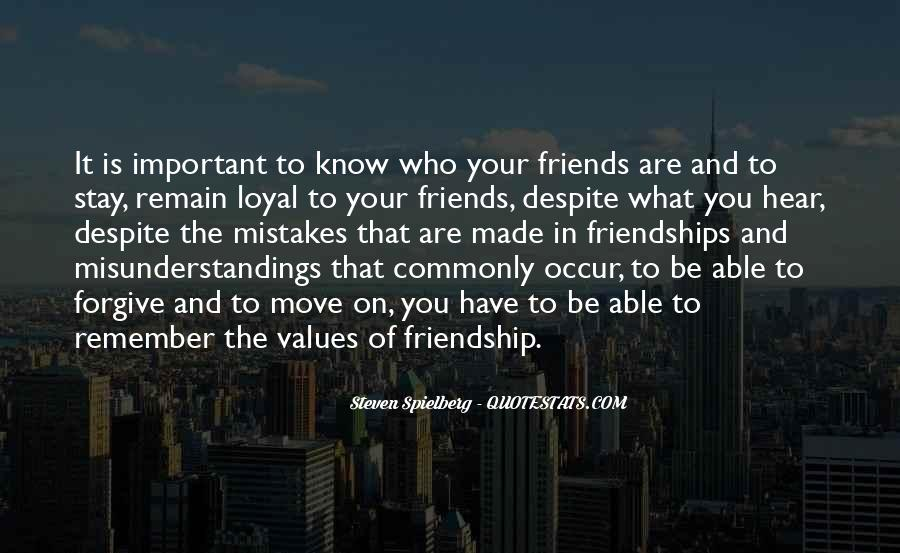 Quotes About Important Friendships #107194