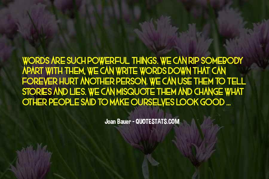 Quotes About Words That Are Powerful #219703